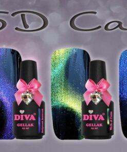 Diva 5D Cat Eye 3 fl. + staaf magneet